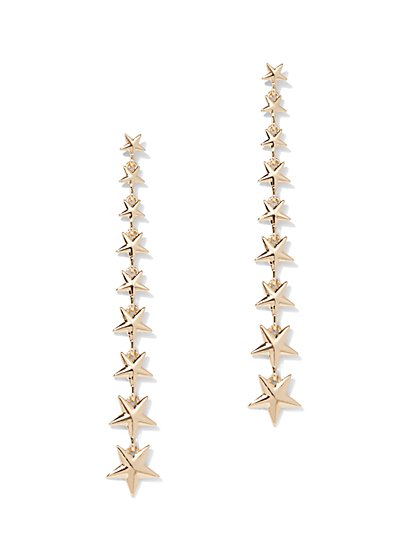 Linear Star Drop Earring - New York & Company
