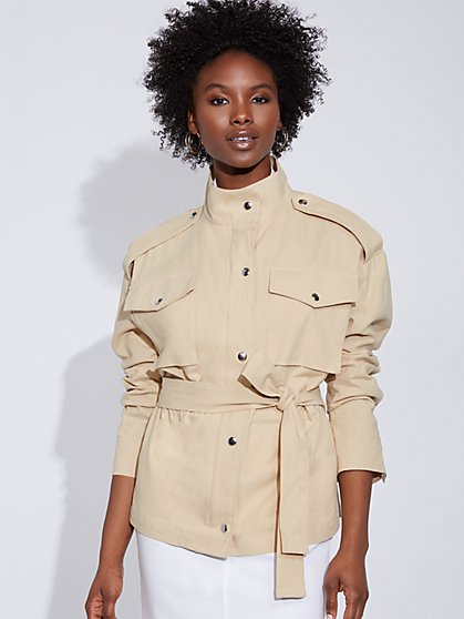 Linen Anorak Jacket - Gabrielle Union Collection - New York & Company