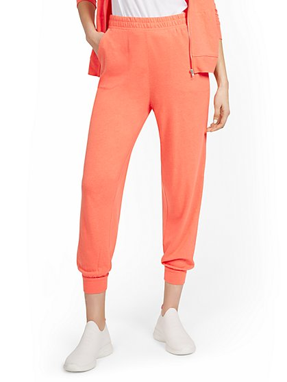 Linen-Blend High-Waisted Jogger Pant - New York & Company