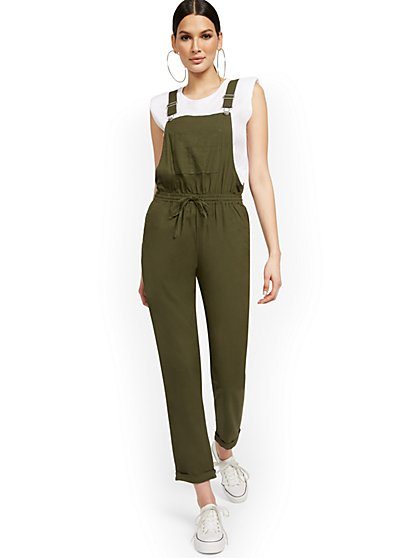 Linen-Blend Soft Overall - New York & Company