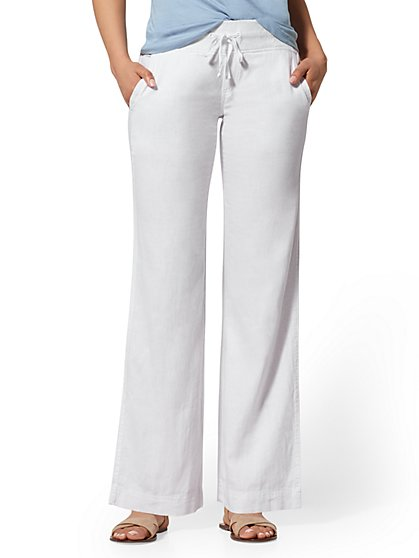 Linen-Blend Wide-Leg Pant - Soho Street - New York & Company