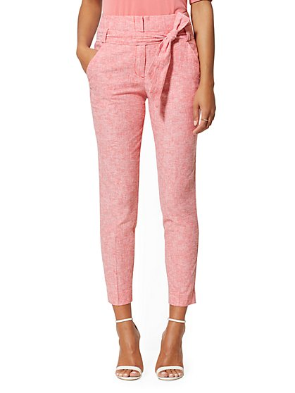 Linen Madie Slim-Leg Pant - 7th Avenue - New York & Company