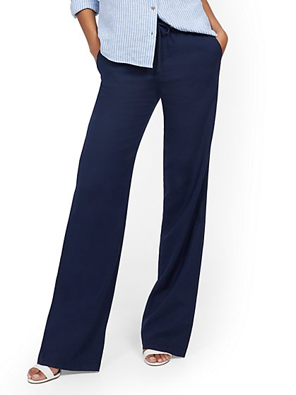 Linen Wide-Leg Pant - New York & Company