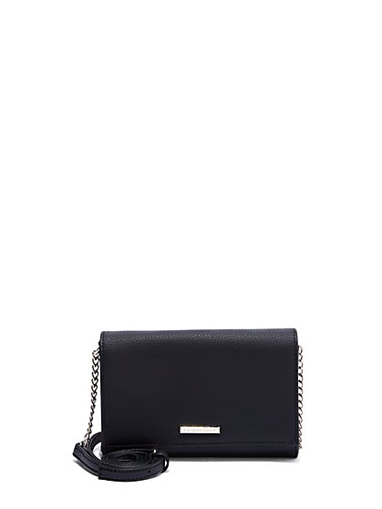 Link-Strap Faux-Leather Wallet - New York & Company
