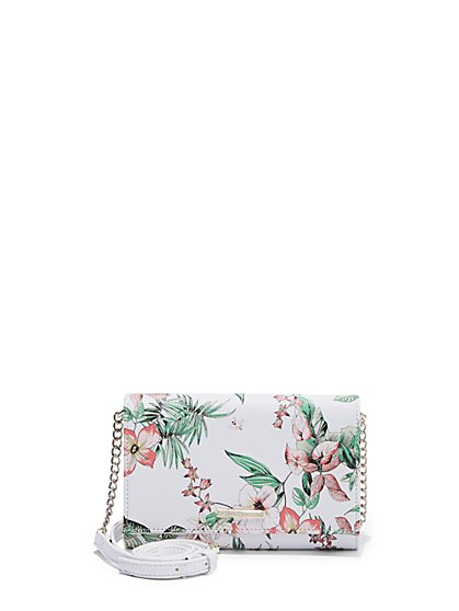 Link-Strap Floral Wallet - New York & Company