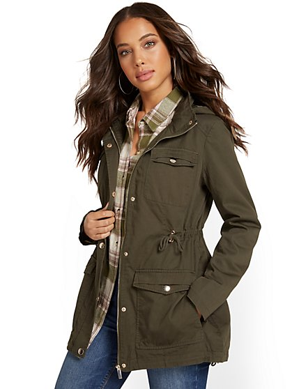 Long Anorak Jacket - New York & Company