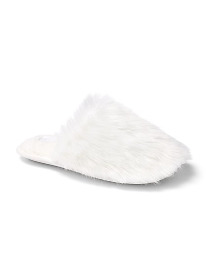 Long Faux-Fur Scuff Slipper - New York & Company