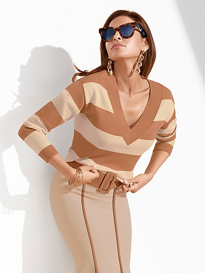 Lucia Belted Sweater - Eva Mendes Collection - New York & Company