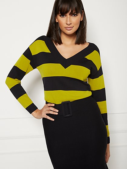 Lucia Stripe Sweater - Eva Mendes Collection - New York & Company