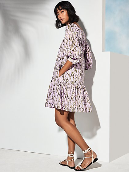 Luna Dress - Iris Print - New York & Company