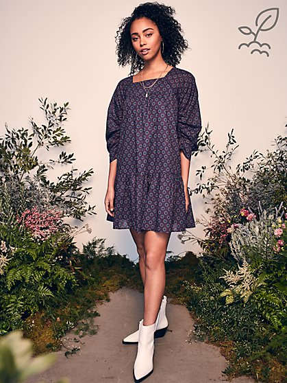 Luna Dress in Responsibly-Sourced Cotton - New York & Company