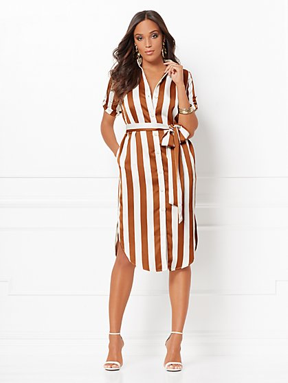 Lynda Stripe Shirtdress - Eva Mendes Collection - New York & Company