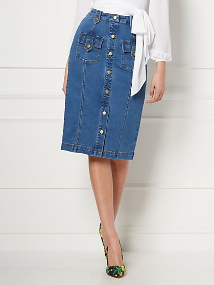 Lyonne Denim Skirt - Eva Mendes Collection - New York & Company