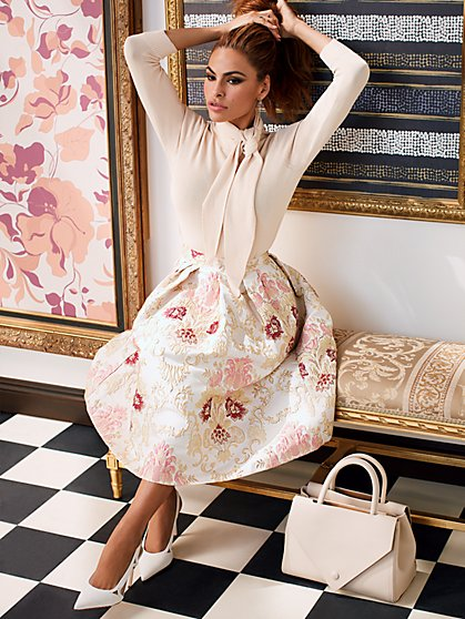 Maddie Jacquard Skirt - Eva Mendes Party Collection - New York & Company