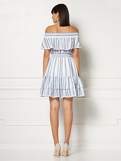 9a0039936f8 ... Madelyn Off-The-Shoulder Midi Dress - Eva Mendes Collection - New York  ...
