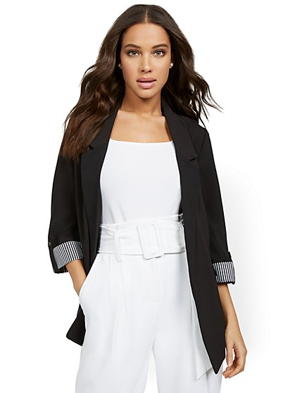 Madie 3/4-Sleeve Soft Blazer - 7th Avenue - New York & Company