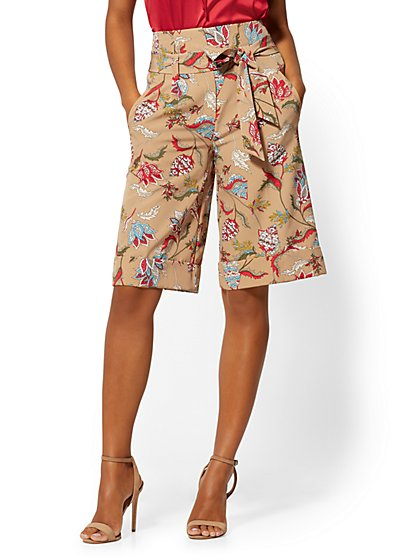 Madie Bermuda Short - Floral - Modern - 7th Avenue - New York & Company