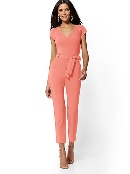 Madie Cap-Sleeve Jumpsuit - 7th Avenue - New York & Company