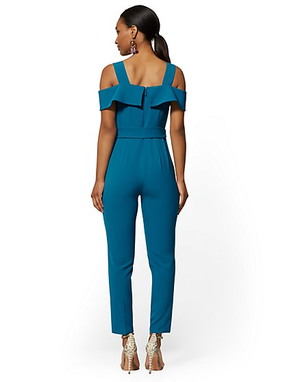 590028fc50375 ... Madie Cold-Shoulder Jumpsuit - New York & Company