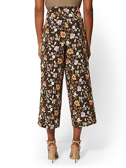 4df718b3f9 ... Madie Crop Pant - Brown Floral - 7th Avenue - New York & Company ...