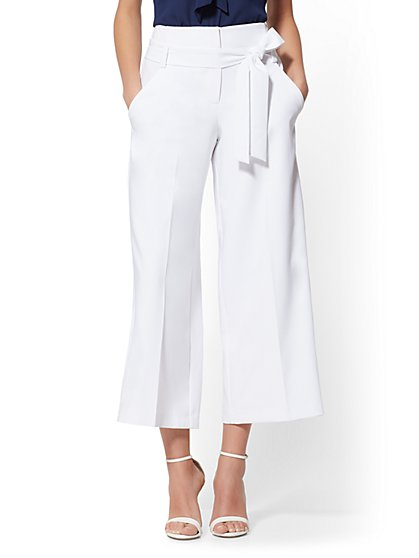 Madie Crop Pant - White - 7th Avenue - New York & Company