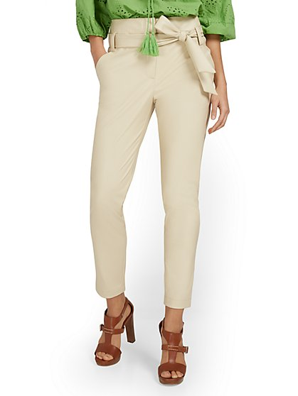 Madie Faux-Leather Paperbag Pant - New York & Company