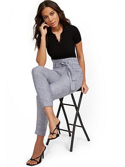 Madie Linen Slim Ankle Pant - 7th Avenue - New York & Company