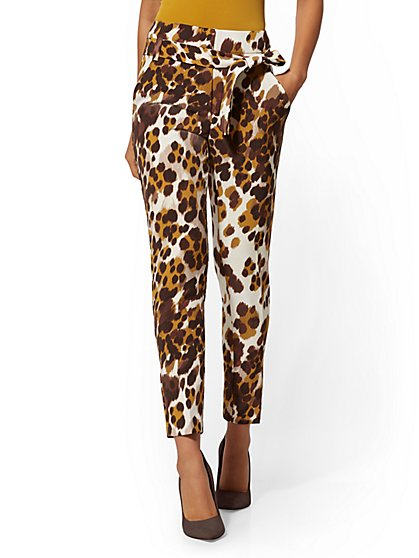 Madie Pant - Leopard Print - 7th Avenue - New York & Company
