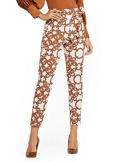 Madie Pant - Link Print - 7th Avenue - New York & Company
