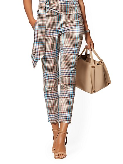 Madie Pant - Multicolor Plaid - 7th Avenue - New York & Company