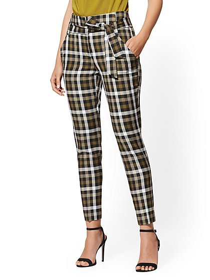 Madie Pant - Plaid - 7th Avenue - New York & Company