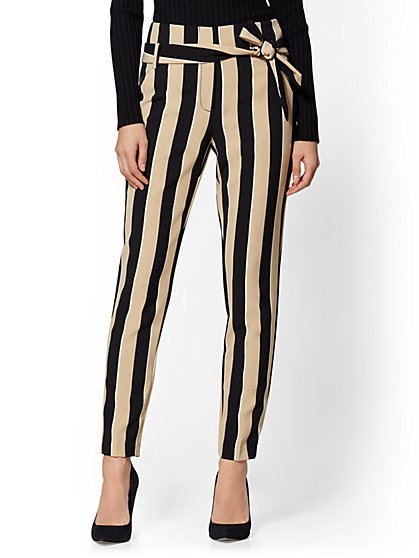 Madie Pant - Stripe - 7th Avenue - New York & Company