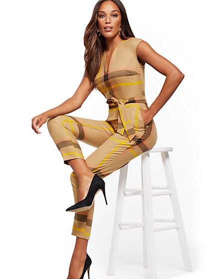 Madie Plaid Jumpsuit - New York & Company