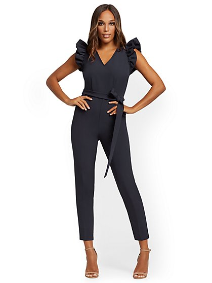 Madie Ruffled Jumpsuit - 7th Avenue - New York & Company