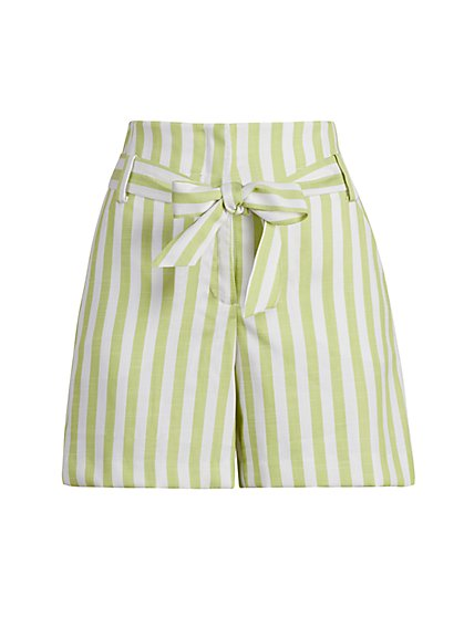Madie Stripe Bermuda Short - 7th Avenue - New York & Company