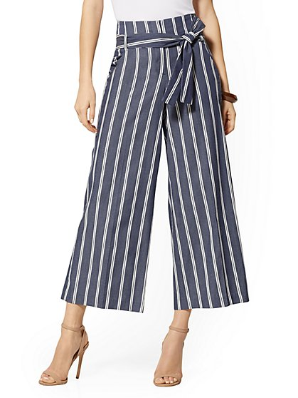 80d651bec40194 Madie Stripe Crop Pant - 7th Avenue - New York & Company ...