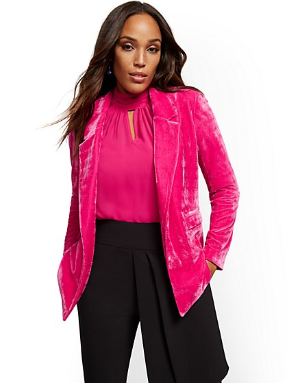Madie Velvet Jacket - 7th Avenue - New York & Company