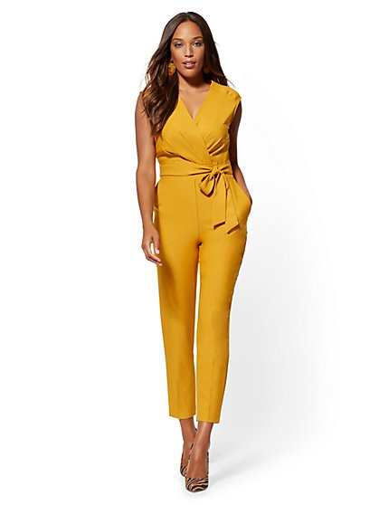 Madie Wrap Jumpsuit - 7th Avenue - New York & Company