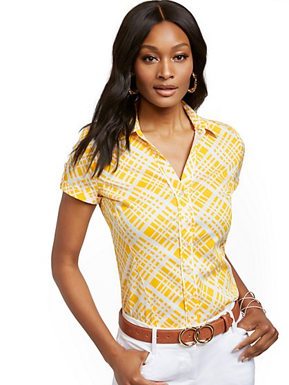 Madison Stretch Shirt - Secret Snap - 7th Avenue - New York & Company