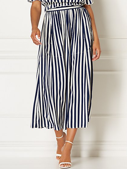 Malia Stripe Maxi Skirt - Eva Mendes Collection - New York & Company