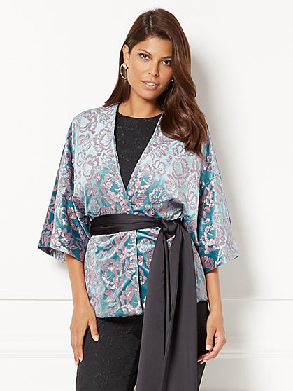 Manu Embellished Kimono Jacket - Eva Mendes Collection - New York & Company
