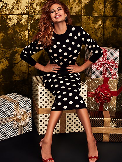 Margeaux Dot-Print Sweater - Eva Mendes Collection - New York & Company