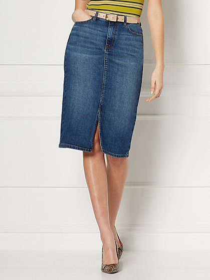 Margie Denim Pencil Skirt - Eva Mendes Collection - New York & Company
