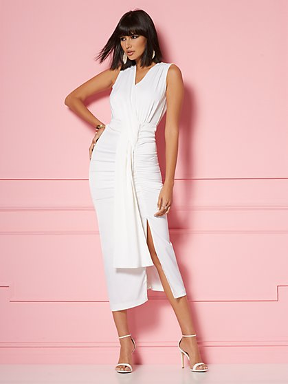 Marguerite Draped Sheath Dress - Eva Mendes Party Collection - New York & Company