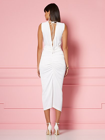 9283e9aa4d ... Marguerite Draped Sheath Dress - Eva Mendes Party Collection - New York    Company