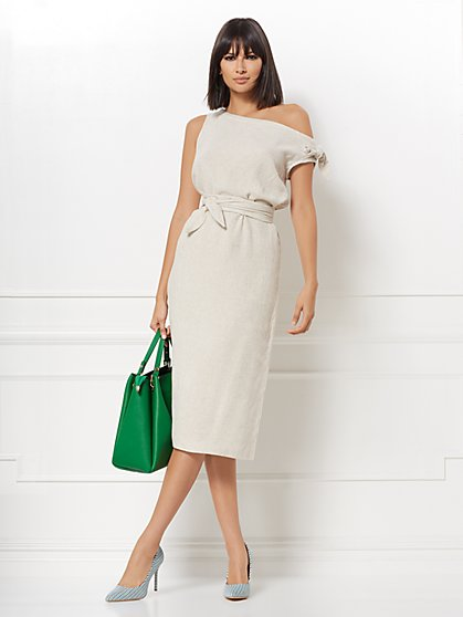 Mariana Linen-Blend Shift Dress - Eva Mendes Collection - New York & Company