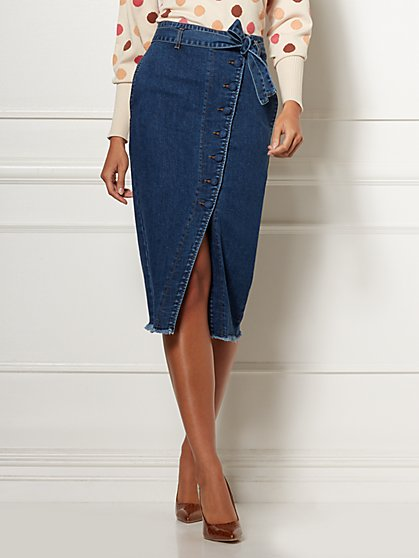 Mariette Denim Skirt - Eva Mendes Collection - New York & Company