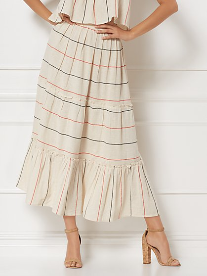 Marla Stripe Linen Skirt - Eva Mendes Collection - New York & Company