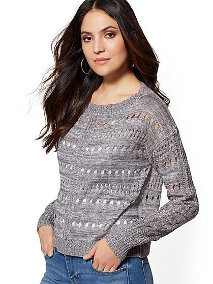 3b1d2490d64 Marled Open-Stitch Sweater - New York   Company ...