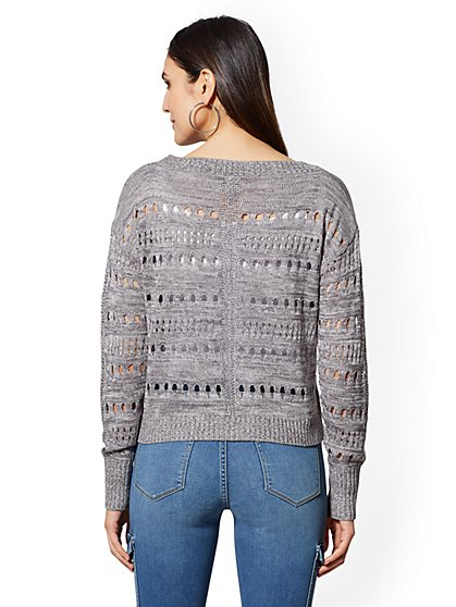 ... Marled Open-Stitch Sweater - New York   Company ... 377f8c28d